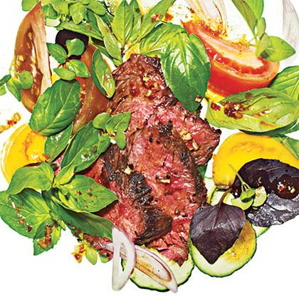 Spicy Basil-Beef Salad Recipe, Cooking Light JULY 2012