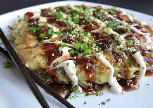Okonomiyaki (Japanese savoury pancakes) - From Las Vegas Food ...