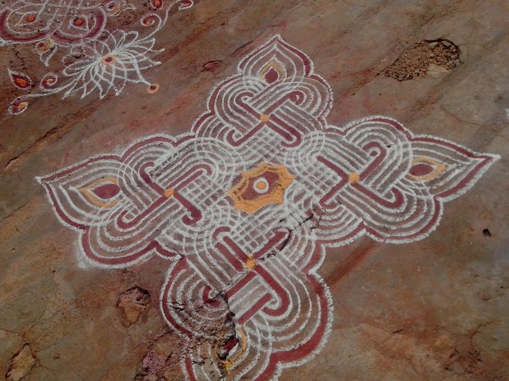 ... typical four line kolam for Friday | Kolams - The South Indian floo