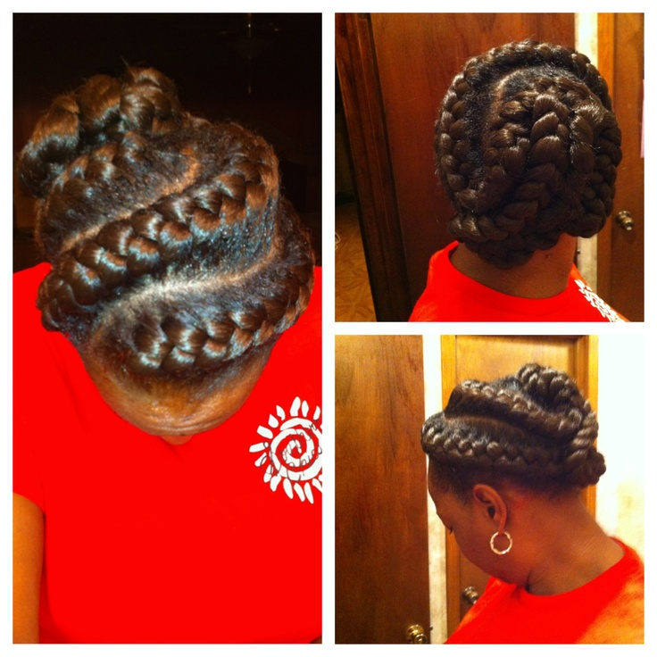 black braided hairstyles for round faces