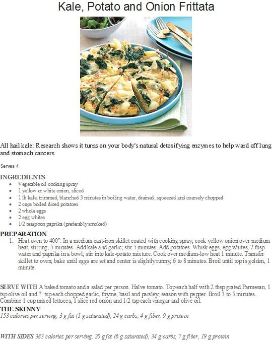 Kale, Potato and Onion Frittata | recipes | Pinterest