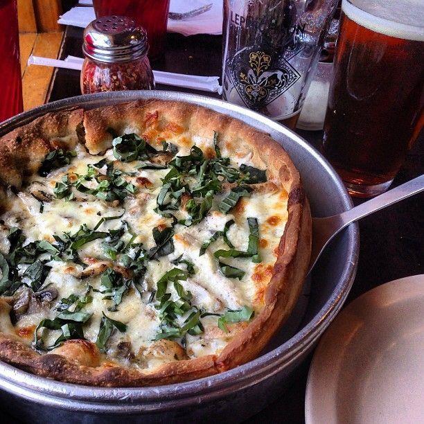 Chicken Alfredo. So good. | Deep Dish Pizzas | Pinterest