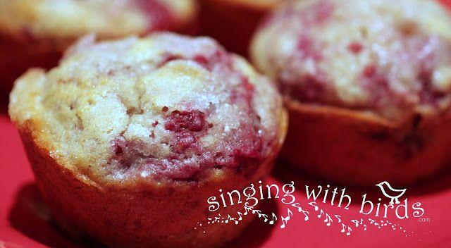 Raspberry Sugar Muffins   Singing With Birds   Pinterest