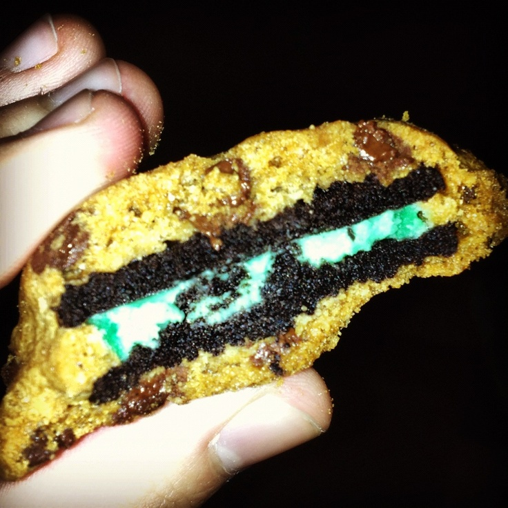 Mint Oreo chocolate chip cookies! : ) | Life! | Pinterest