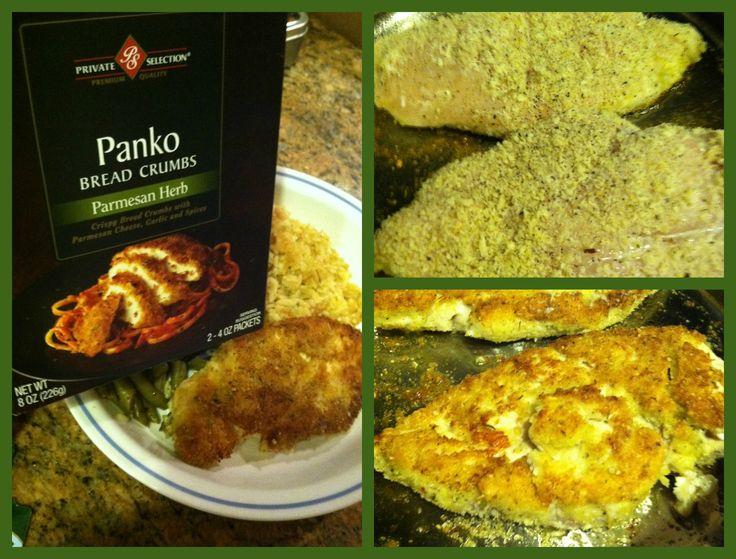 Parmigiano Panko Chicken Honey Biscuits Recipe — Dishmaps