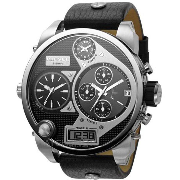 diesel men 39 s big daddy chronograph watch. Black Bedroom Furniture Sets. Home Design Ideas