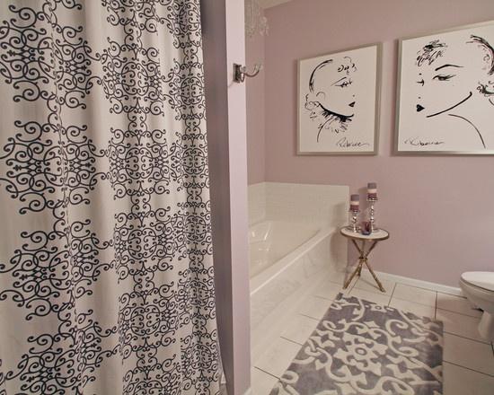 Light purple bathroom for bathing pinterest for Hot pink bathroom ideas