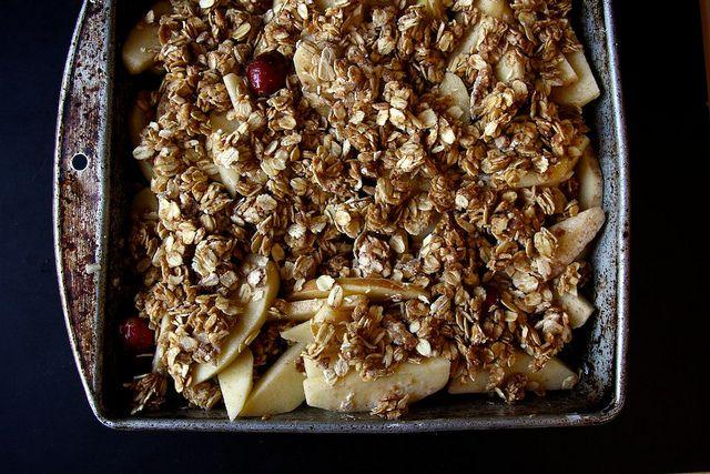 Vegan Apple Cranberry Oatmeal Bake by joy the baker. I think I'll ...