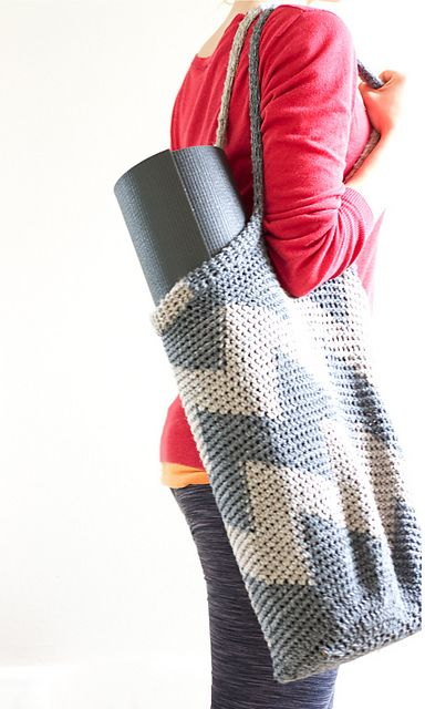 Free Crochet Pattern Yoga Mat Bag : Chevron Crochet Yoga Bag Crochet Pinterest