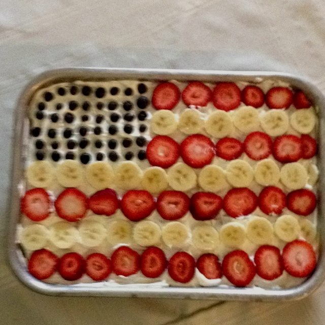 4th of july pudding cookies