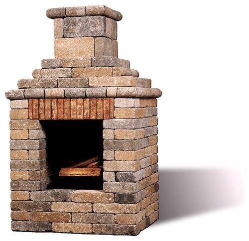 DIY Outdoor Fireplace Brick Stone Pinterest