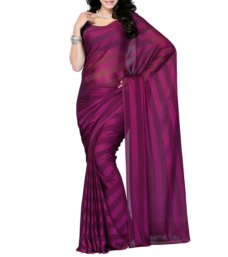 Brilliant Purple Georgette Saree -- What about saree fabric as part of the decor  736 x 828 · 44 kB · jpeg