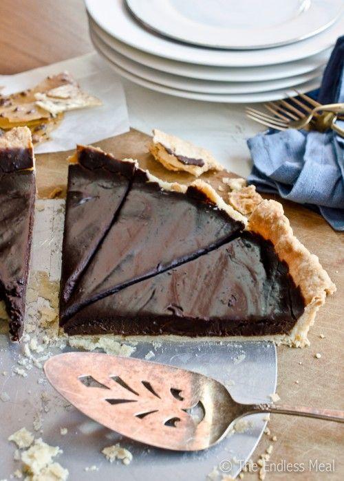 Dark Chocolate Pie with Cocoa Nib and Bacon Praline. OMG! Why did I ...