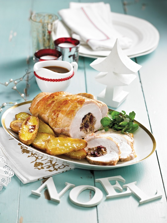 ... Dux - Oven Roasted Turkey Breast with Walnut and Cranberry Stuffing