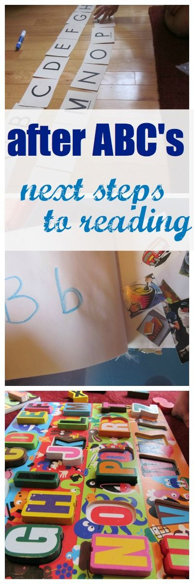 what to do after kids learn their abc's -- next steps to get kids reading! Good ideas for parents