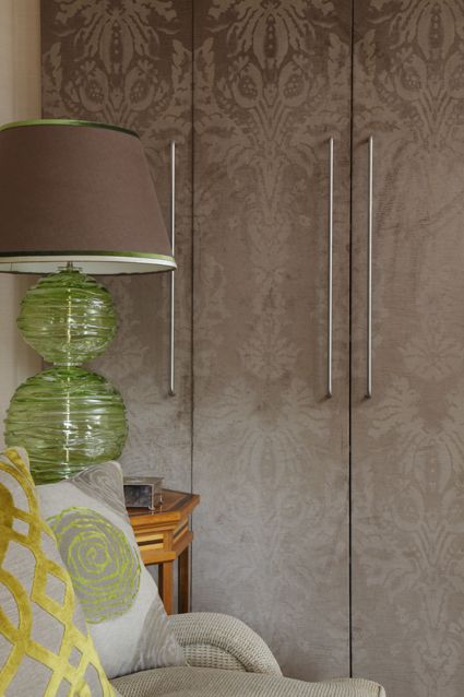 Patterned wardrobe doors. Wallpaper?