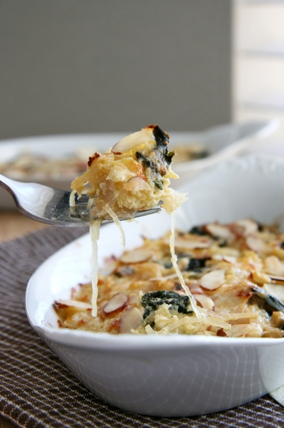 Spaghetti squash and greens gratin. | Recipes to Try | Pinterest