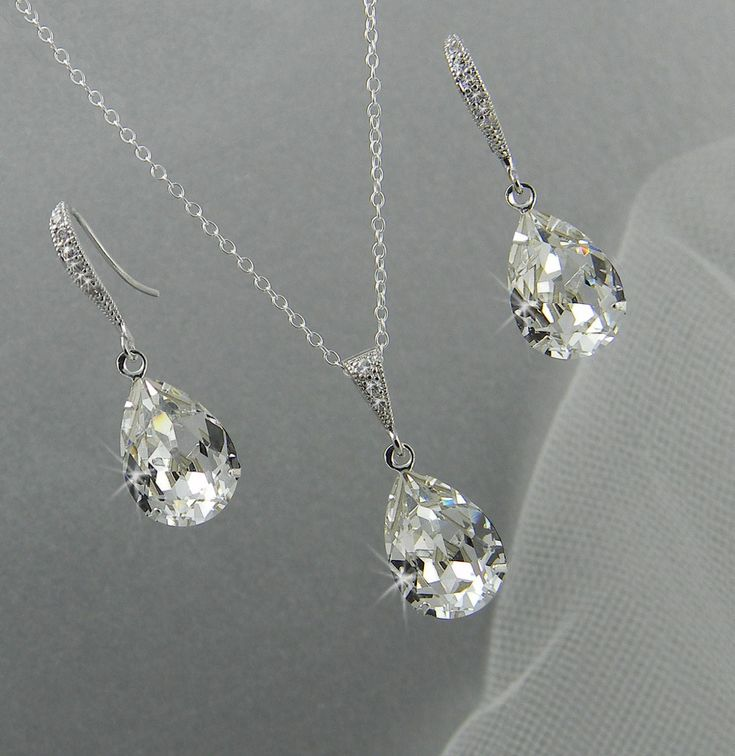 bridal jewelry set pendant earrings necklace