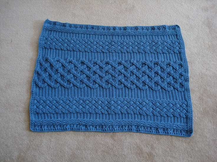 Crochet Cable Baby Blanket Pattern : Baby blanket using crochet cables Crochet baby Pinterest