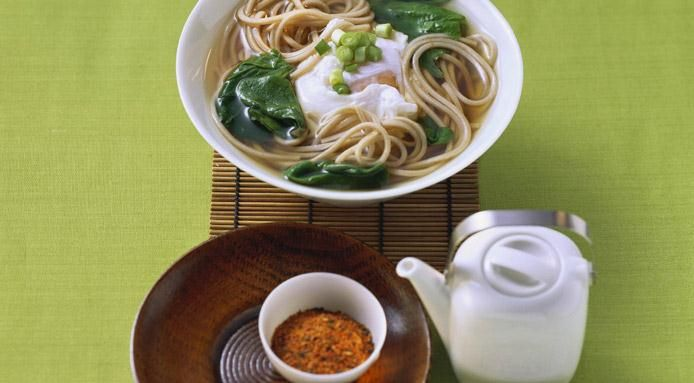 how to make soba noodles soup