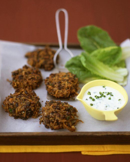 Spicy Black-Bean Cakes Because these crispy bean cakes are broiled ...
