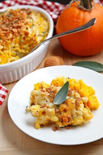 Pumpkin Mac n Cheese with Amaretti Crust | Recipe