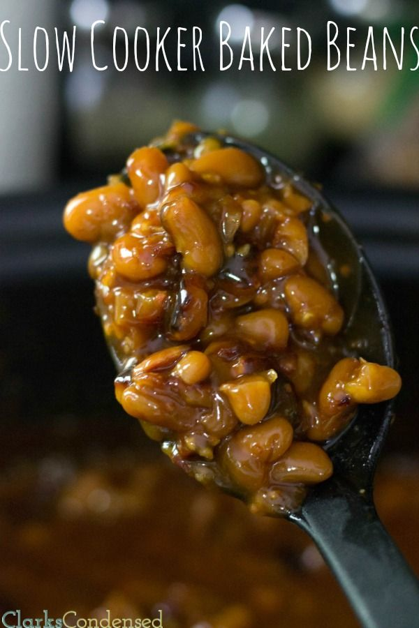 Slow cooker baked beans -- SO GOOD!