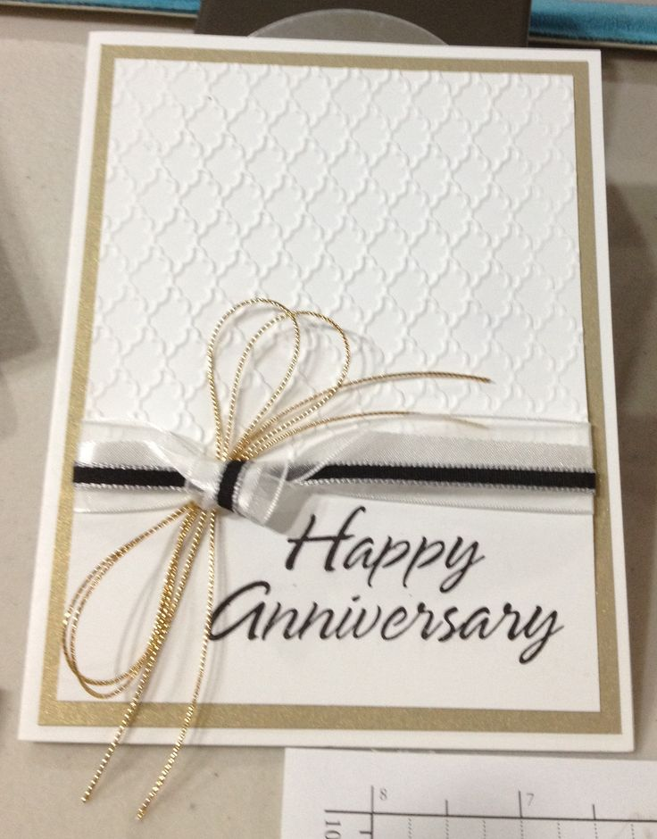 Anniversary card stampin up cards pinterest