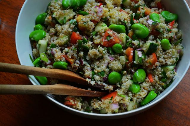 Nourish The Roots: Vegetable Quinoa Salad with Fava Beans