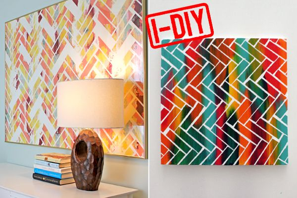 Chevron painting. I'd do my own thang, but still a great idea.