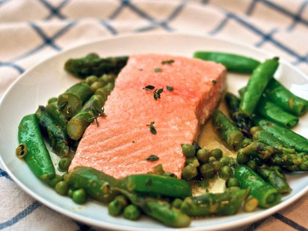 Olive Oil Poached Salmon Recipe - tender Copper River salmon with full ...