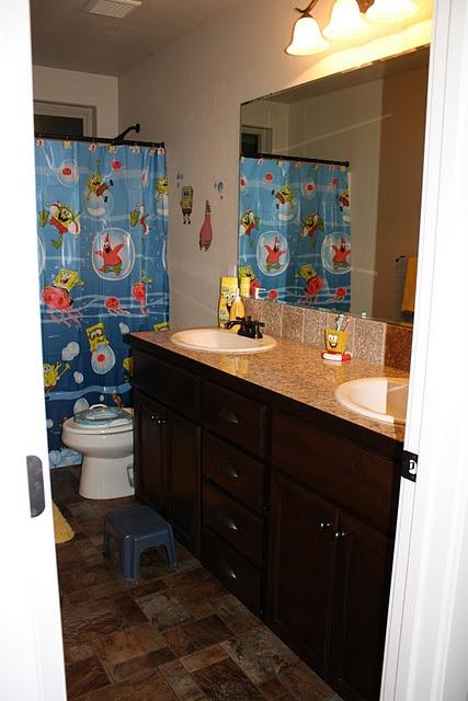 Spongebob Bathroom For The Kids Projects We 39 Ve Done Pinterest