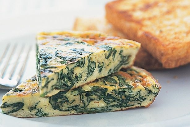 Ricotta & spinach frittata | What's on the Menu | Pinterest