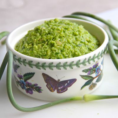 garlic scape pesto - great on pasta I added some basil for extra ...