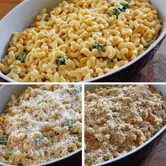 Lighter Baked Macaroni and Cheese - did without spinach (none on hand ...
