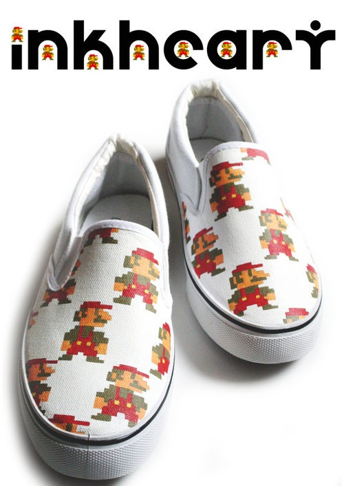 Hand Painted Mario Shoes | Video Games | Pinterest
