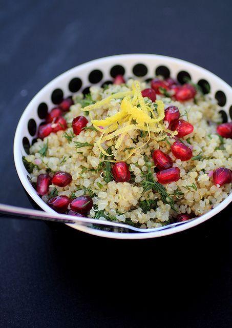 Warm Quinoa pomegranate dill salad | Food/Cooking | Pinterest
