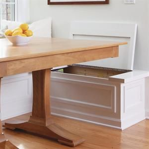 Built In Storage Bench Breakfast Nook