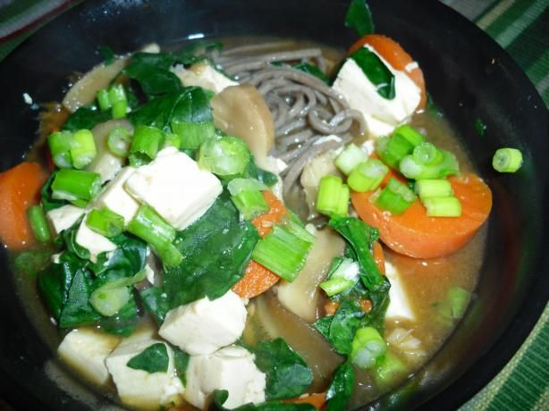 Soba Soup With Spinach and Tofu from Food.com: MMMMMmmmmmm, this soup ...