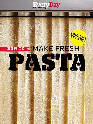 pasta you won't go back to the box. Using the fresh egg pasta dough ...