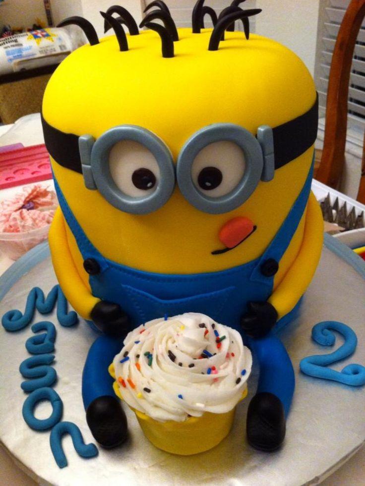 Minion Birthday Cake-AHHHHHHHHHHH MINIONS