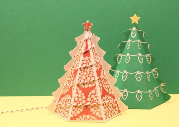 christmas card printables : Free 3D Christmas Tree Templates (PDF ...