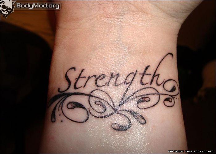 Wrist strength tattoo... :)