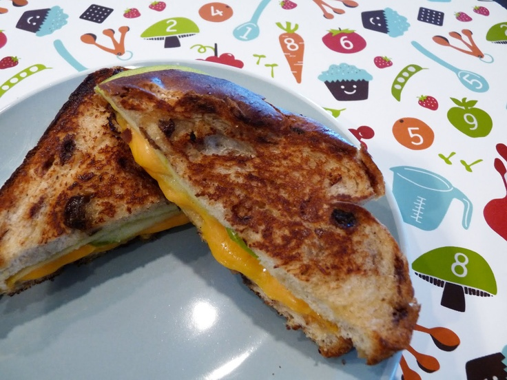 Grilled Apple & Cheese Sandwich w/ Cinnamon Raisin Bread