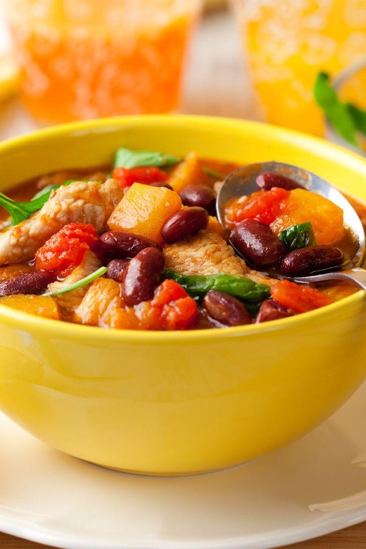 Butternut Squash and Turkey Chili Recipe | Recipes- Low Fat | Pintere ...