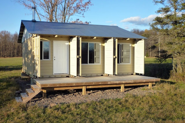 Nice simple shipping container deck dream home pinterest - Simple shipping container homes ...