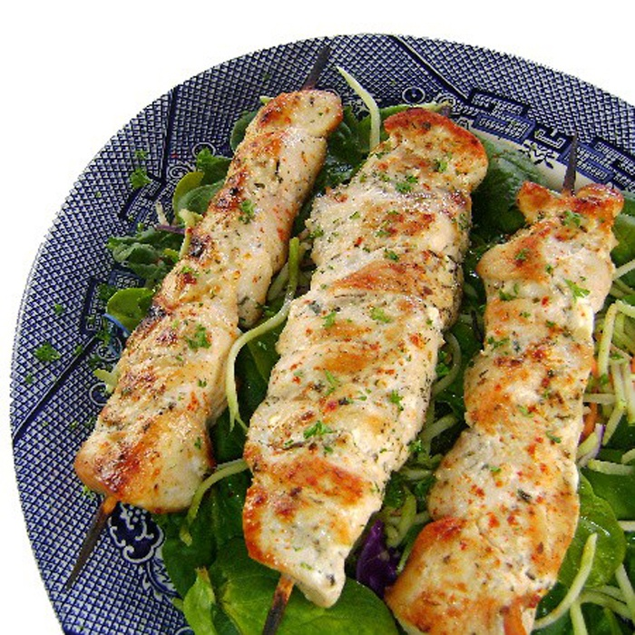 lemon garlic chicken kabob | Grilled and kabobs | Pinterest