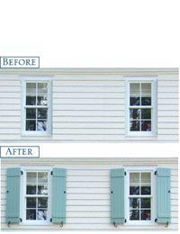 Before And After Shutters Home Pinterest