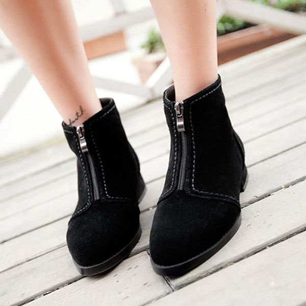 Biker boots retro punk leather boot camp fashion military boots