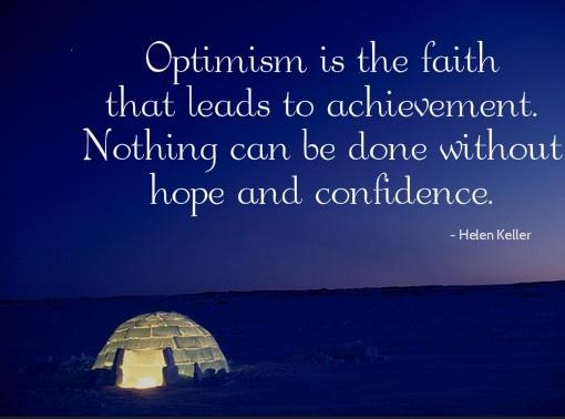 optimism -Helen Keller #Quote | Inspirational People ...
